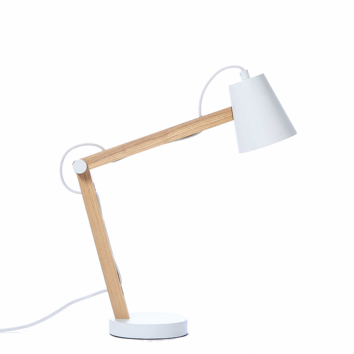 Lampa de birou Play White Matt / Nature la pret 644 lei