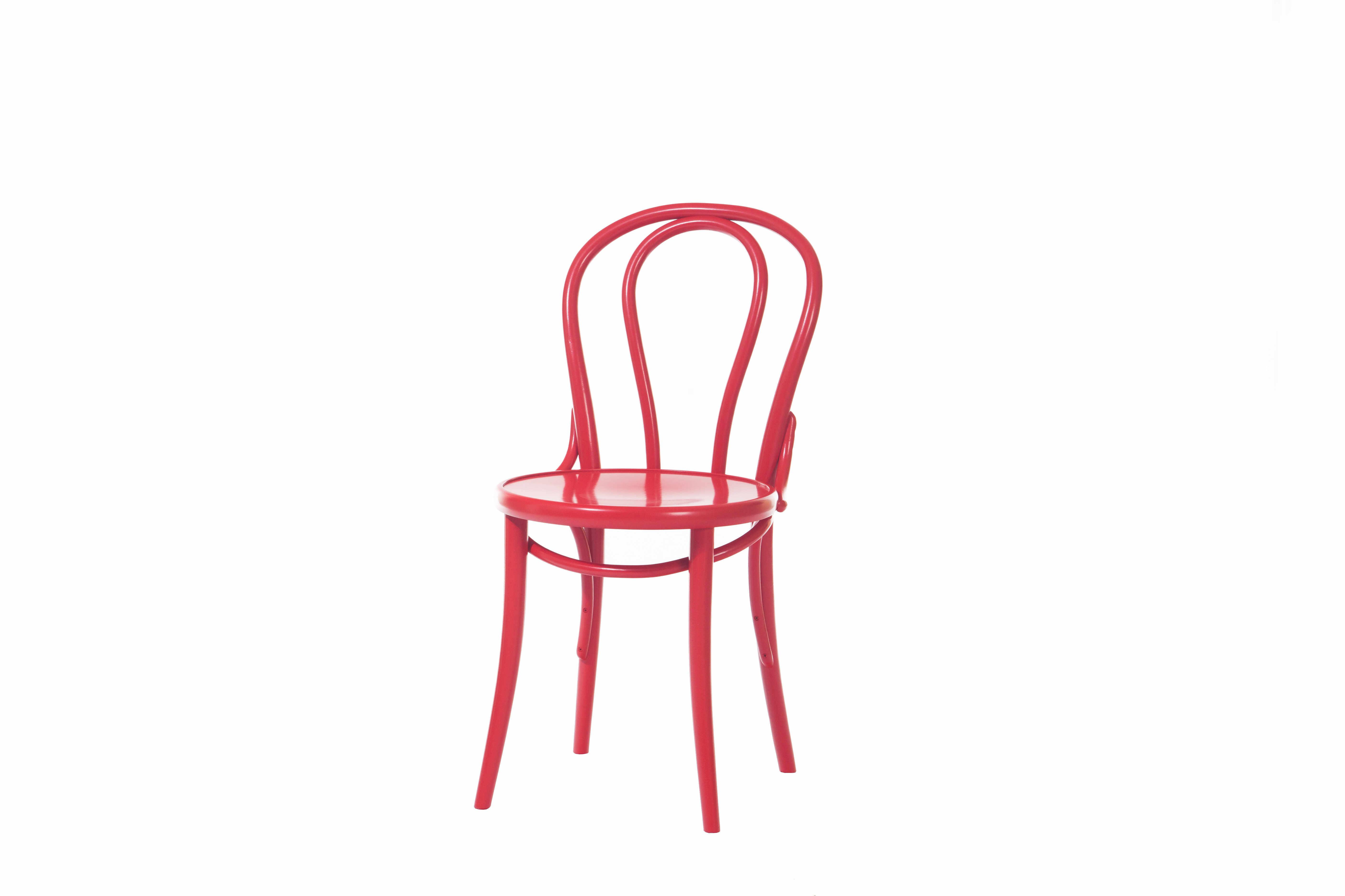 Scaun din lemn de fag 18 Red, l41xA51,5xH84 cm la pret 1161 lei