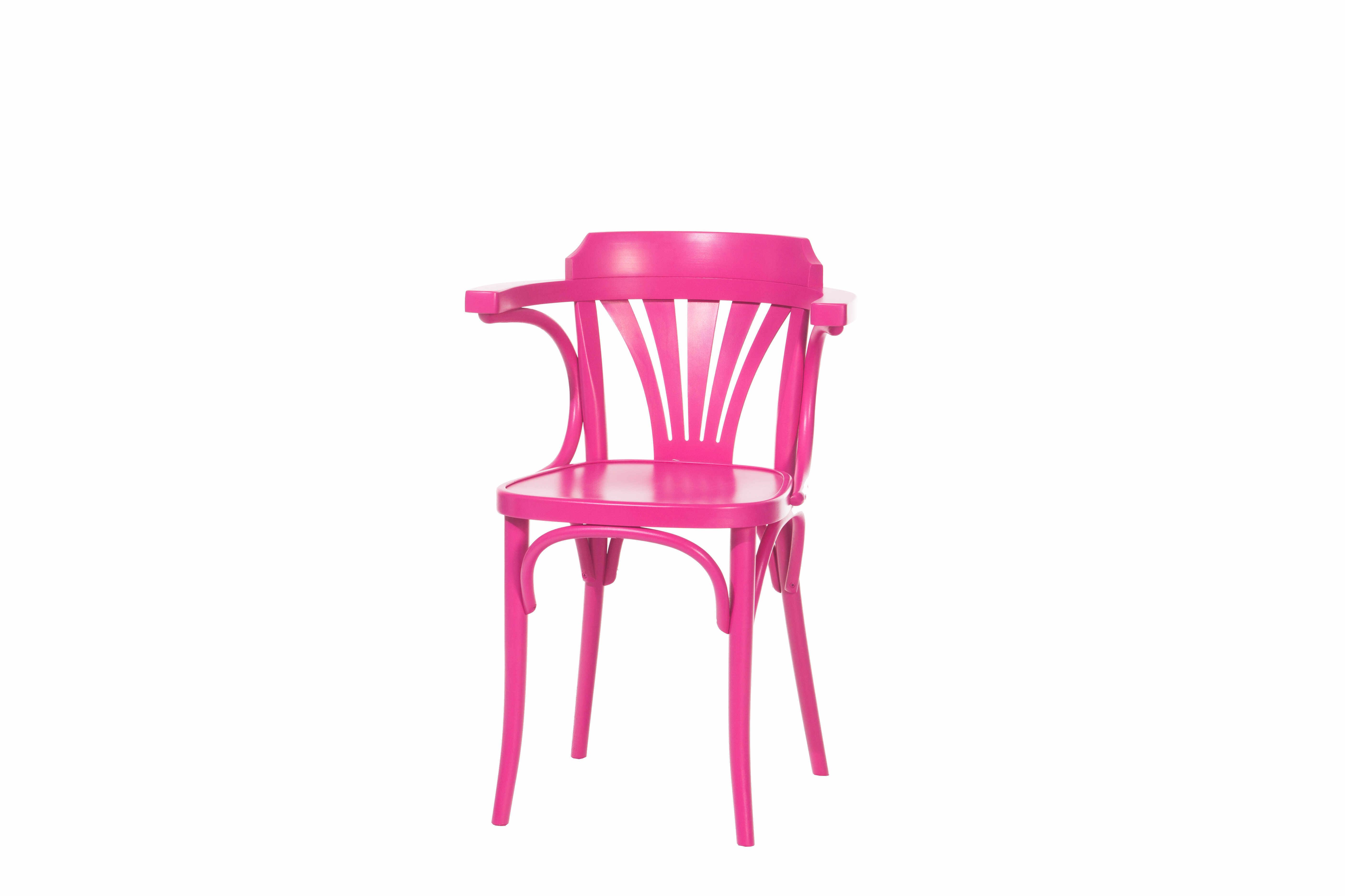 Scaun din lemn de fag 24 Pink, l54xA48xH77 cm la pret 1378 lei