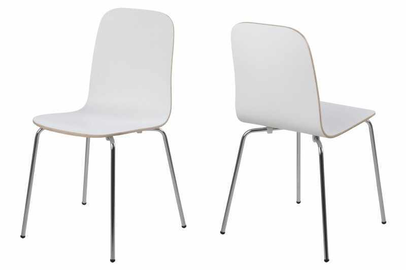 Set 4 scaune metalice Bjoorn White la pret 876 lei