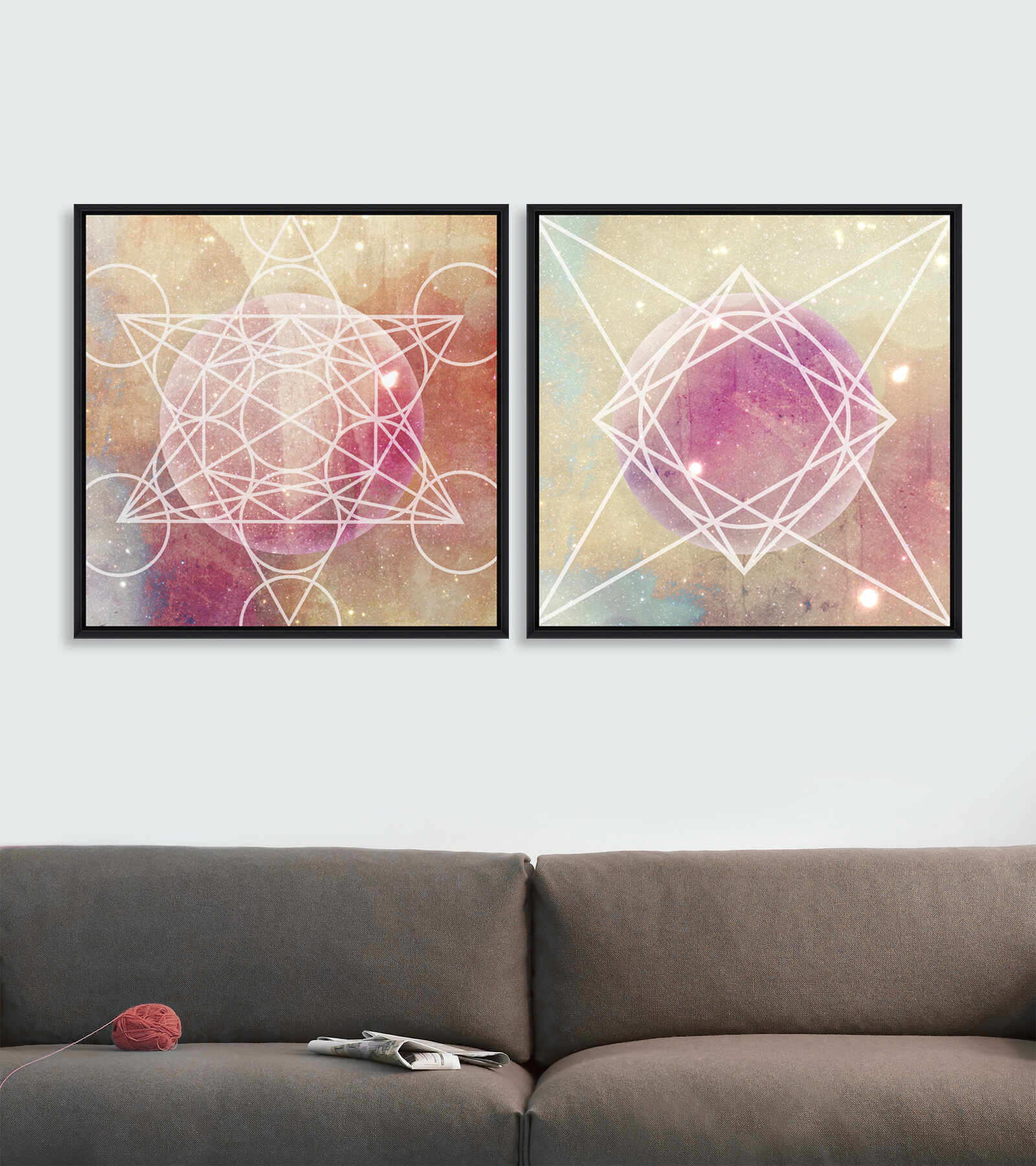 Tablou 2 piese Framed Art Planets la pret 847 lei