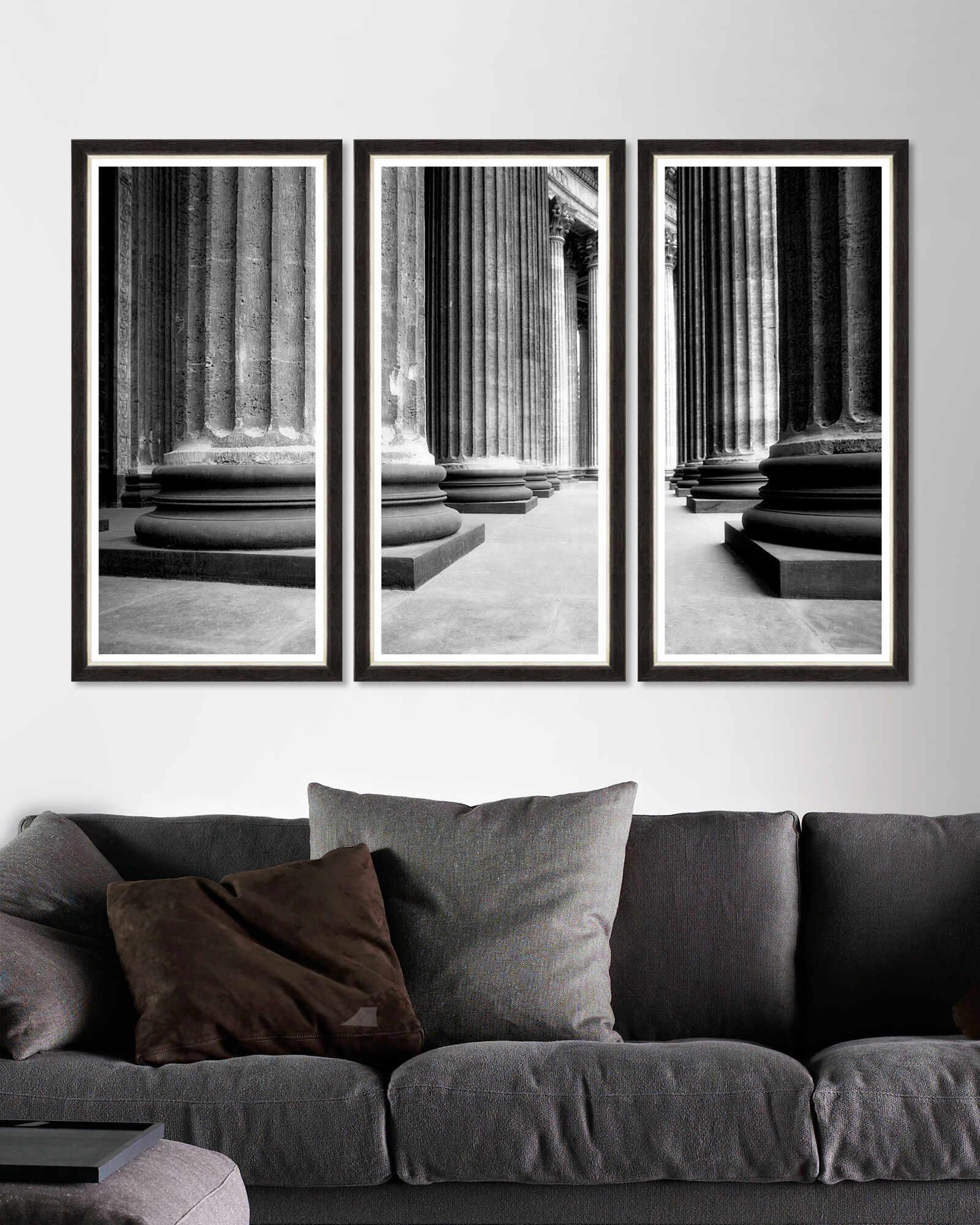 Tablou 3 piese Framed Art Church Colonnade Triptych la pret 740 lei