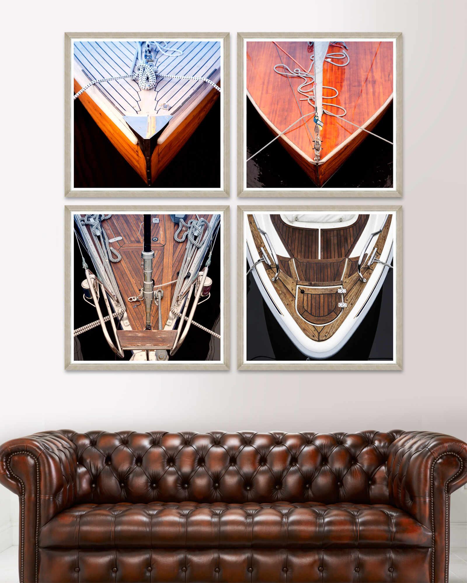 Tablou 4 piese Framed Art Wood Boat Fronts la pret 2739 lei