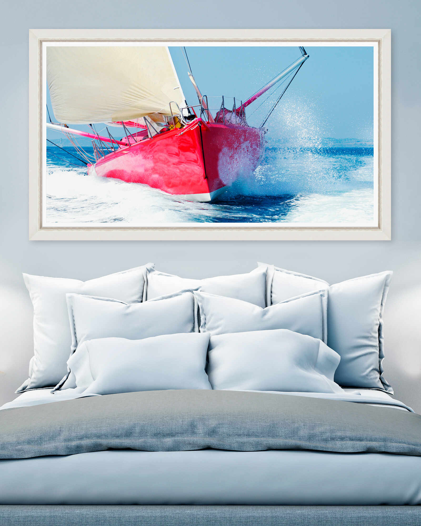 Tablou Framed Art Red Sailboat la pret 742 lei
