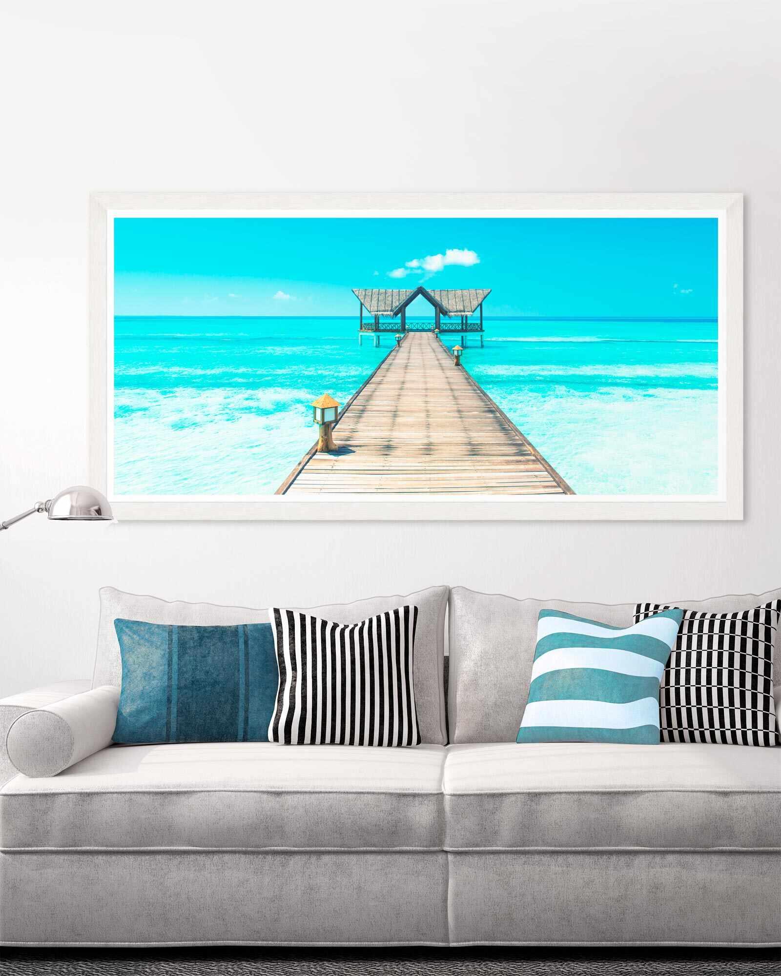 Tablou Framed Art Tropical Seascape la pret 762 lei