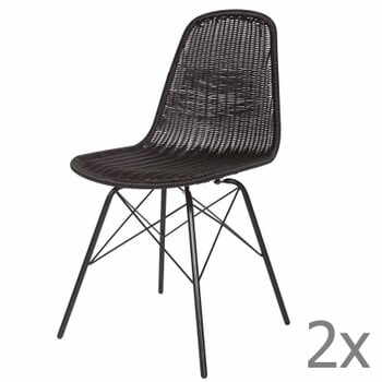 Set 2 scaune BePureHome Spun, negru la pret 1111 lei