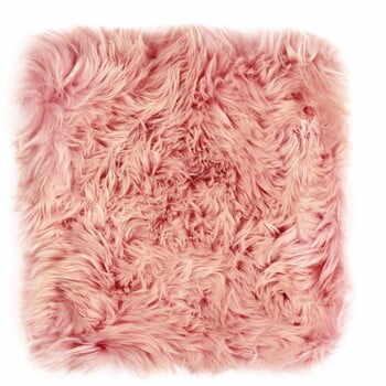 Pernă scaun din blană de oaie Royal Dream, 40 x 40 cm, roz la pret 177 lei