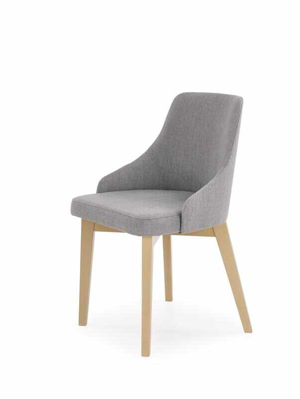 Scaun tapitat cu stofa, cu picioare din lemn de fag Toledo Grey / Sonoma Oak, l51xA55xH82 cm la pret 433 lei
