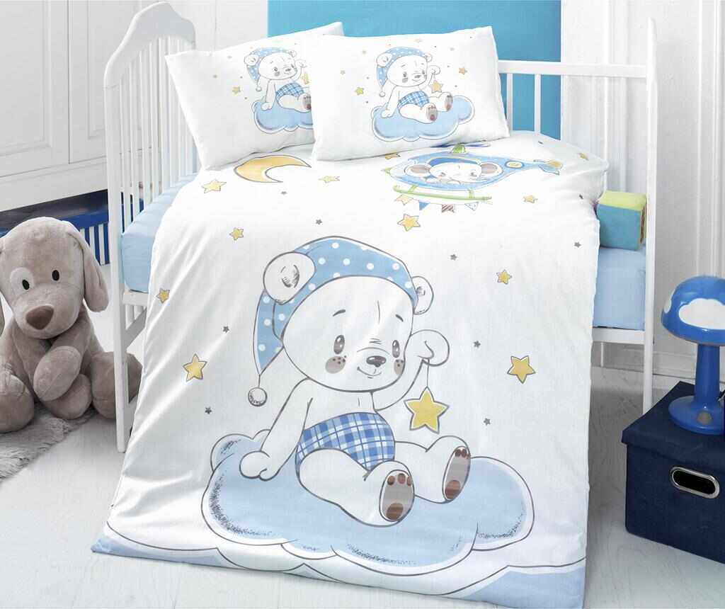 Lenjerie de patut Ranforce Supreme Goodnight 100x150 la pret 75.99 lei
