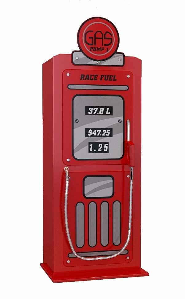 Dulap din MDF cu 1 usa pentru copii Gas Pump Rosu, l50xA40xH141 cm la pret 1300 lei