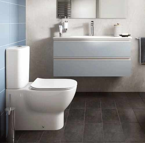Set vas wc btw cu rezervor si capac slim softclose Ideal Standard Tesi Aquablade la pret 1199 lei