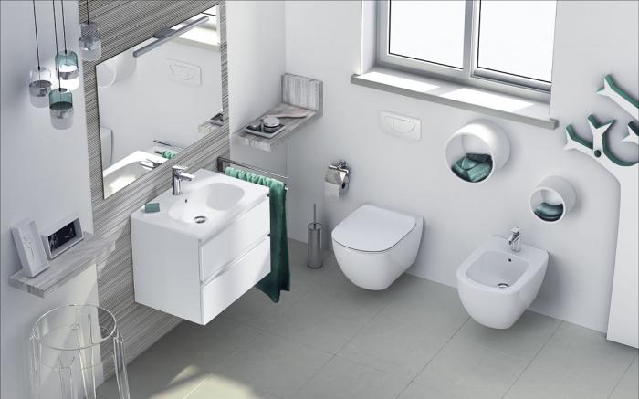 Set vas wc suspendat cu capac softclose si bideu suspendat Ideal Standard Tesi la pret 1279 lei