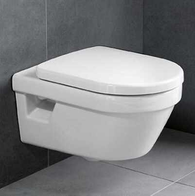 Set vas wc suspendat VilleroyBoch Architectura cu capac soft close