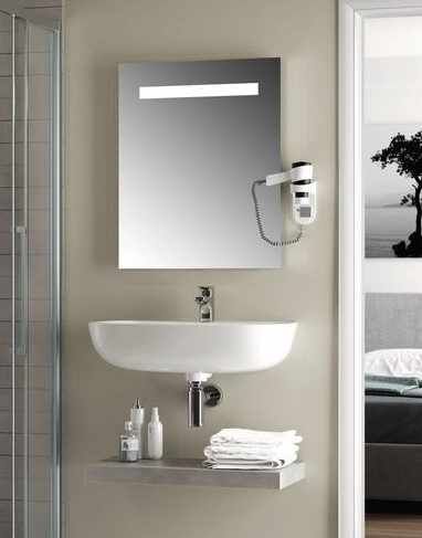 Oglinda cu iluminare led mediana Ideal Standard MirrorLight 60x70 cm