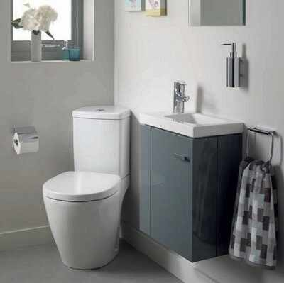 Set vas wc pe pardoseala cu rezervor pe colt si capac softclose Ideal Standard Connect Space
