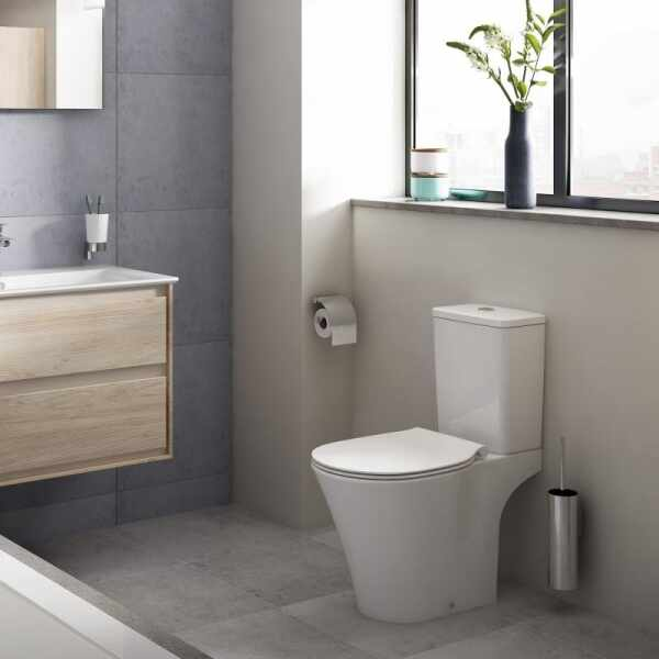 Set vas wc pe pardoseala cu rezervor si capac softclose Ideal Standard Connect Air Rimless