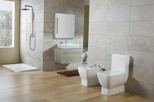 Vas wc pe pardoseala compact pentru rezervor asezat Gala Emma Square la pret 759 lei