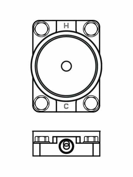 Set baza ingropat Ideal Standard pentru baterii cada montare pe pardoseala la pret 1469 lei