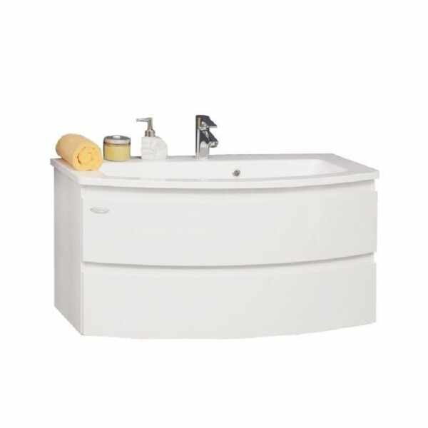 Set lavoar alb mobilier cu sertare KolpaSan Iman alb 100 cm la pret 3963 lei