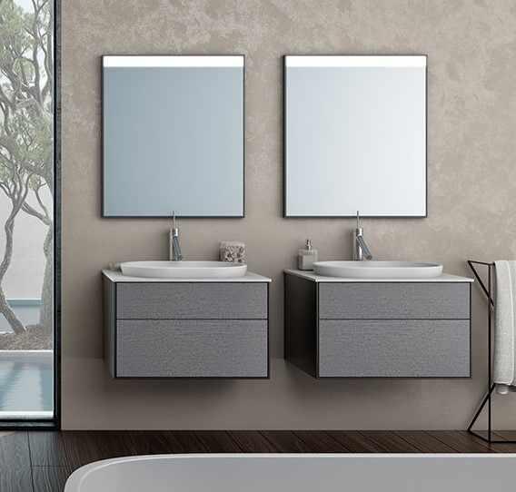 Set mobilier cu sertare lavoar Kerrock alb mat KolpaSan Gloria 70 cm PREMIUM la pret 5046 lei