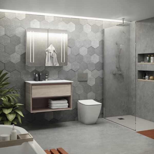 Set vas wc pe pardoseala cu capac slim soft close Ideal Standard Strada II AquaBlade BackToWall la pret 1599 lei