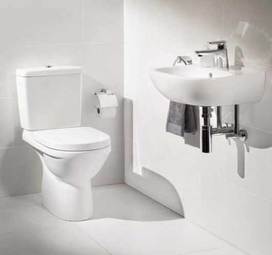 Set vas wc pe pardoseala VilleroyBoch O.Novo Direct Flush cu rezervor si capac soft close