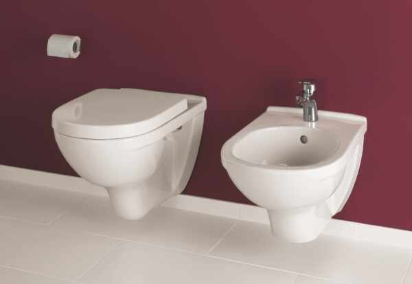 Set vas wc si bideu suspendat VilleroyBoch O.Novo cu capac soft close
