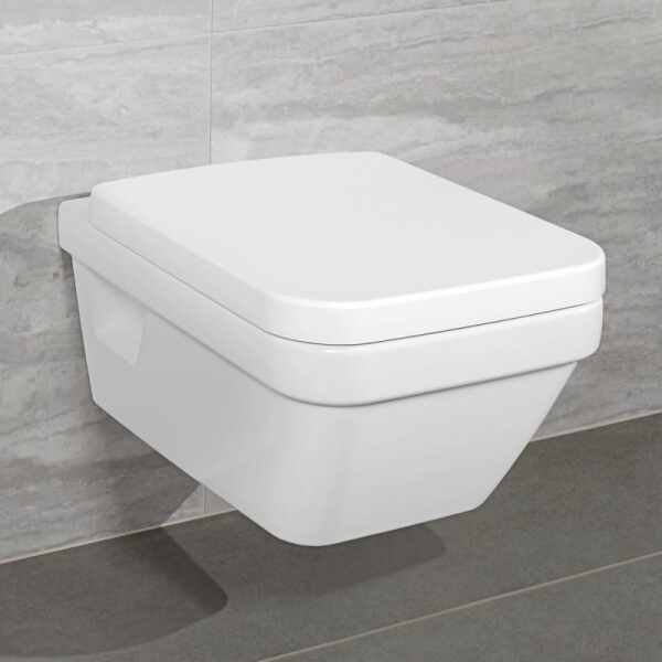 Set vas wc suspendat cu capac soft close VilleroyBoch Architectura dreptunghiular DirectFlush
