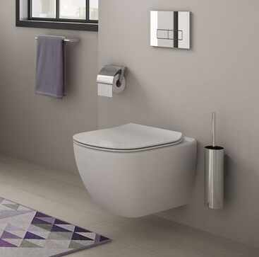 Set vas wc suspendat Ideal Standard Tesi Aquablade cu capac slim softclose