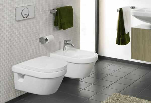 Set vas wc suspendat VilleroyBoch Architectura DirectFlush cu bideu suspendat si capac soft close