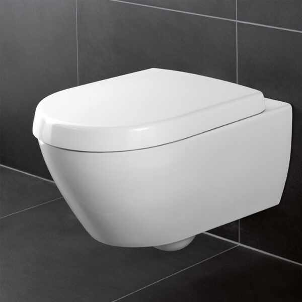Set vas wc suspendat VilleroyBoch Avento Direct Flush cu capac soft close la pret 1339 lei