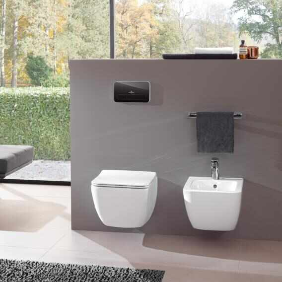 Set vas wc suspendat VilleroyBoch Legato Direct Flush cu bideu si capac slim soft close la pret 3819 lei