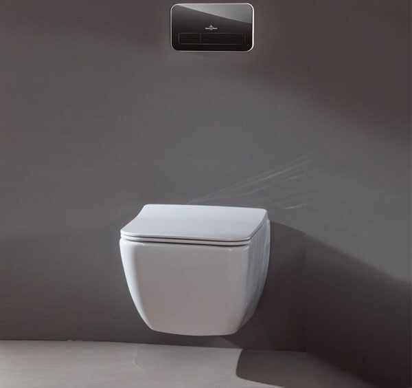 Set vas wc suspendat VilleroyBoch Legato Direct Flush cu capac slim soft close