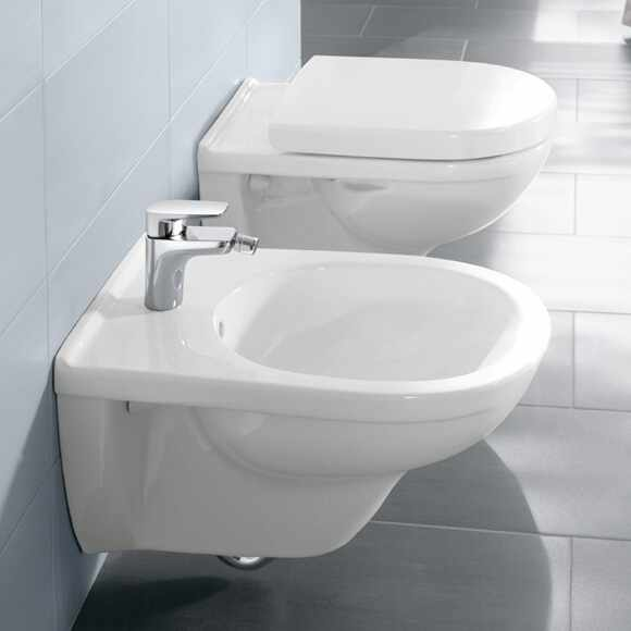 Set vas wc suspendat VilleroyBoch O.Novo Direct Flush cu bideu suspendat si capac soft close