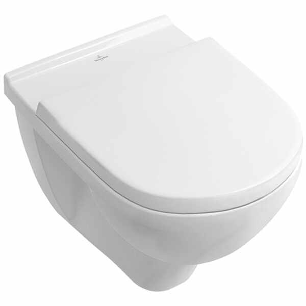 Set vas wc suspendat VilleroyBoch O.Novo Direct Flush cu capac soft close