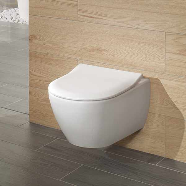 Set vas wc suspendat VilleroyBoch Subway 2.0 DirectFlush cu capac slim soft close