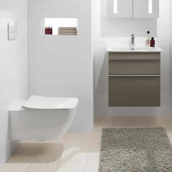 Set vas wc suspendat VilleroyBoch Venticello Direct Flush cu capac slim soft close