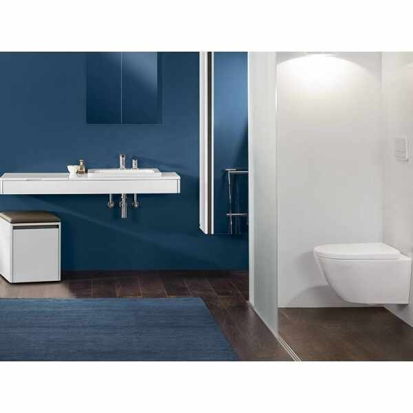 Set Vas wc suspendat XXL VilleroyBoch Vivia Direct Flush cu capac soft close