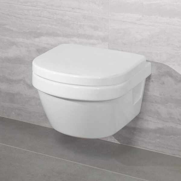 Set vas wc XXL suspendat VilleroyBoch Architectura Direct Flush cu capac soft close