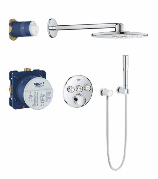 Sistem de dus cu termostat Grohe Grohtherm SmartControl 3 incastrat rotund la pret 4299 lei