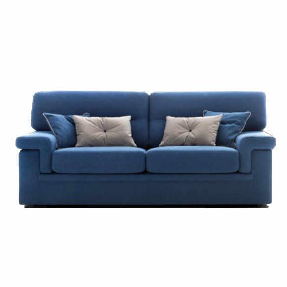 Canapea fixa 3 locuri City Blue, l205xA90xH93 cm la pret 4496 lei