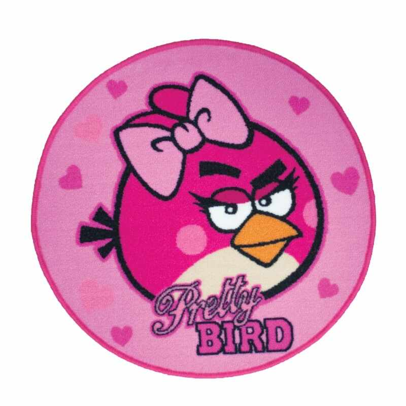 Covor Angry Birds Pretty Bird Pink