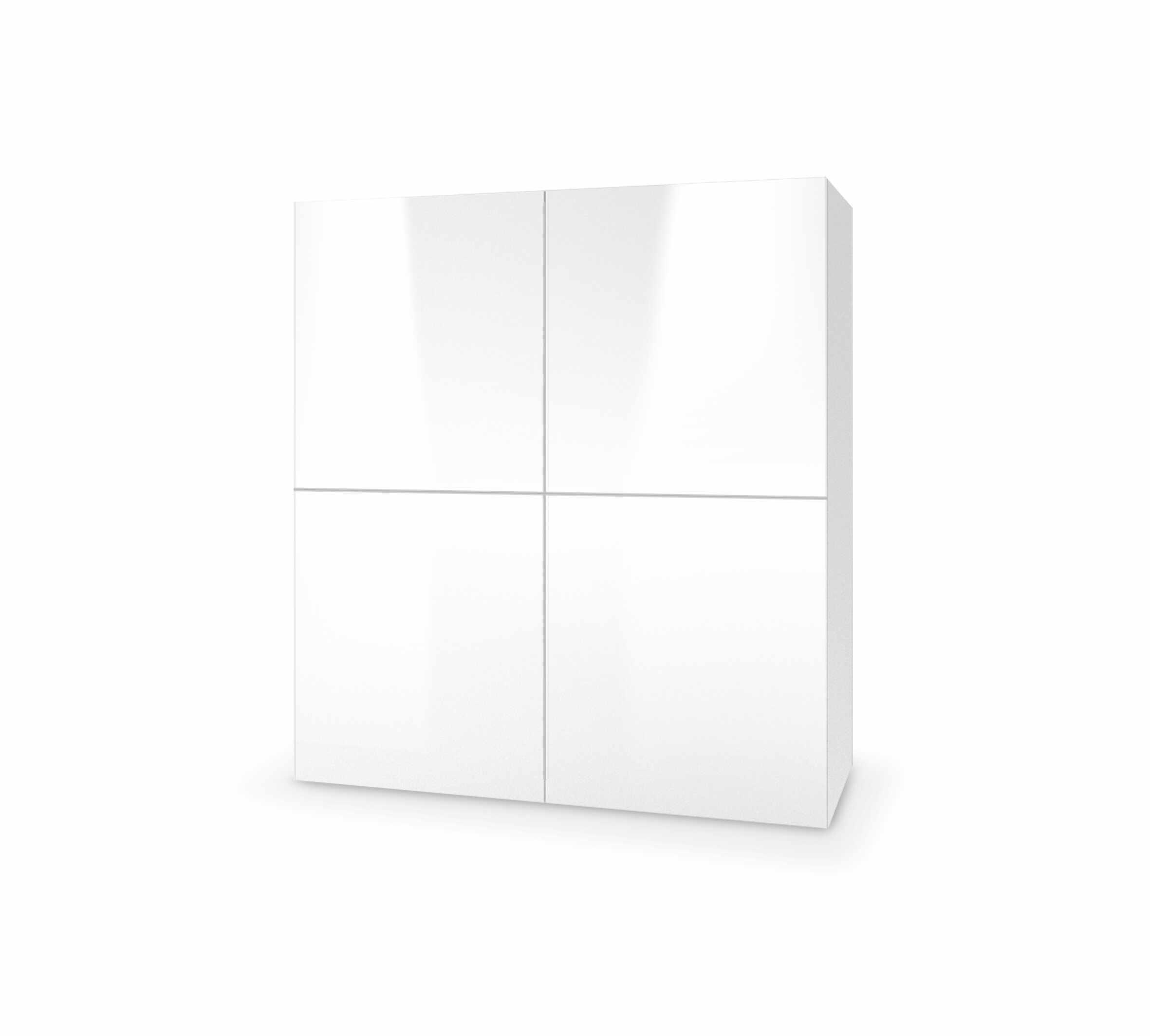 Dulap din MDF Livo KM-100 White, l100xA29xH100 cm la pret 655 lei