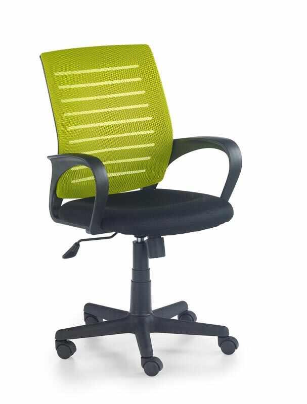 Scaun de birou ergonomic, tapitat cu stofa Santana Green / Black, l58xA60xH89-99 cm la pret 284 lei