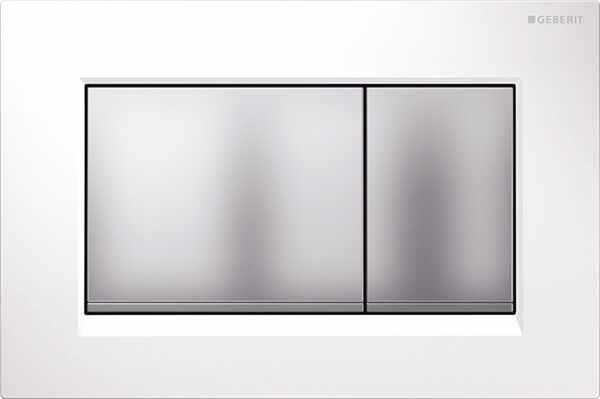 Clapeta de actionare Geberit Sigma 30 alb crom mat la pret 395 lei