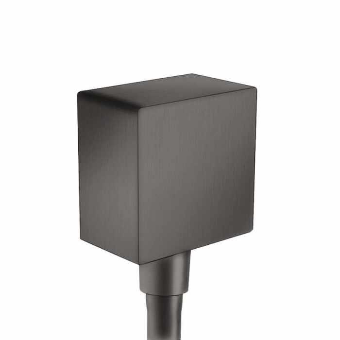 Conector dus Hansgrohe FixFit Square negru periat la pret 159 lei