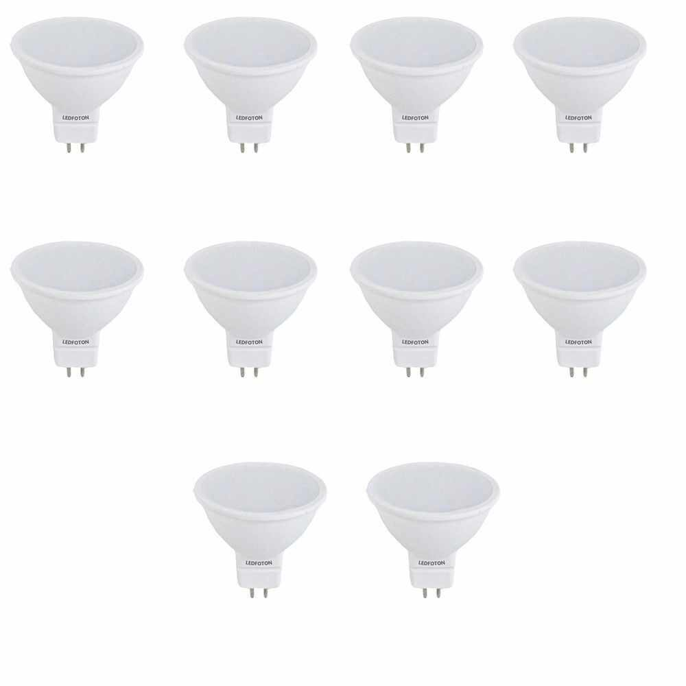 Set 10 spoturi LED 6W 12V lumina calda la pret 156.8 lei