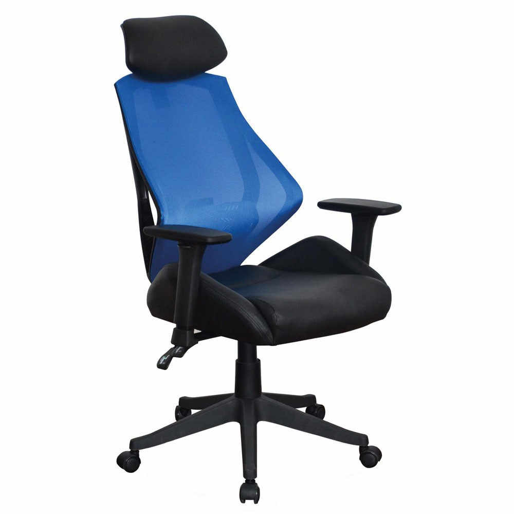 Scaun birou SL Q406 negru - albastru Albastru la pret 731 lei