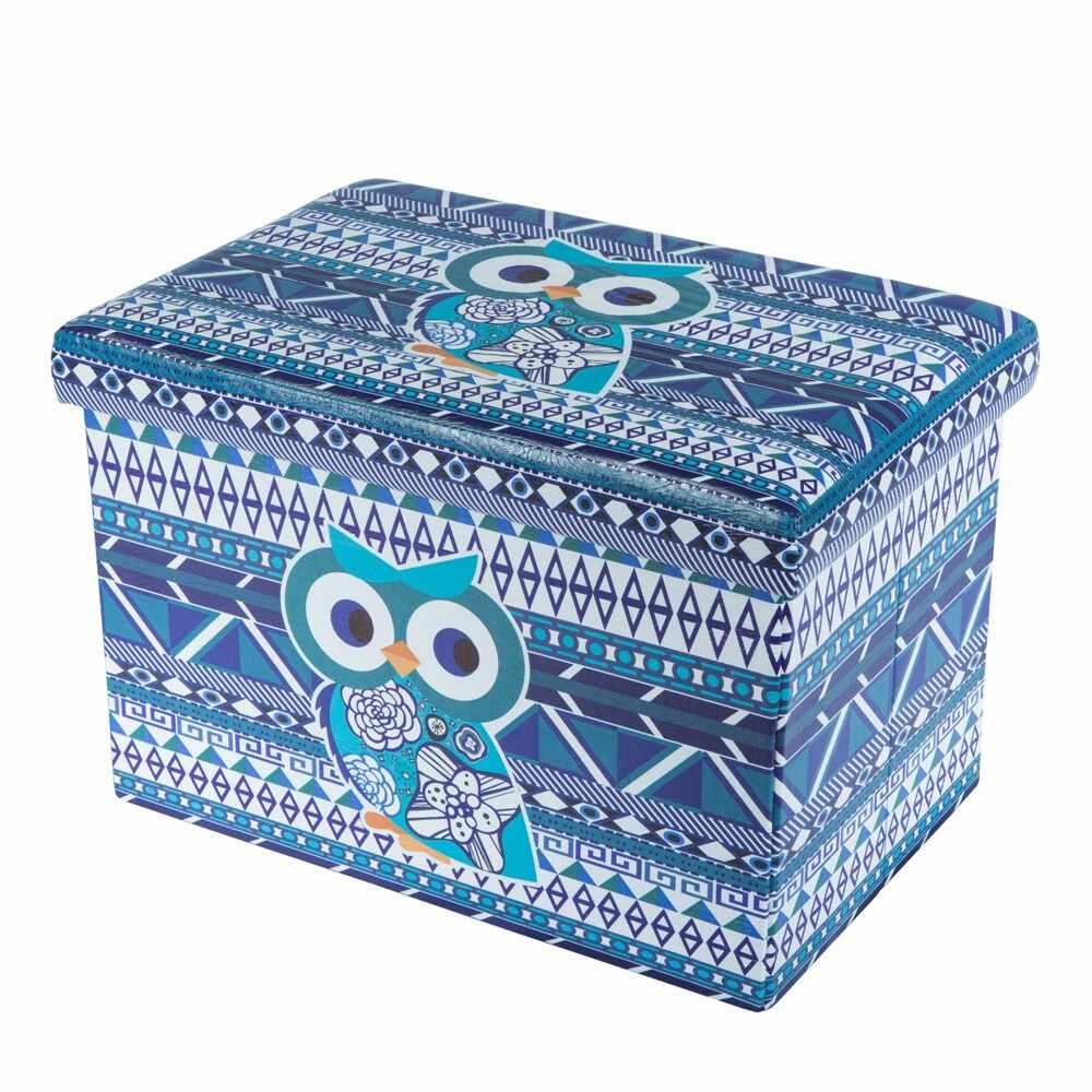 Taburete Design 48 x 32 Blue Owl multicolor la pret 99 lei