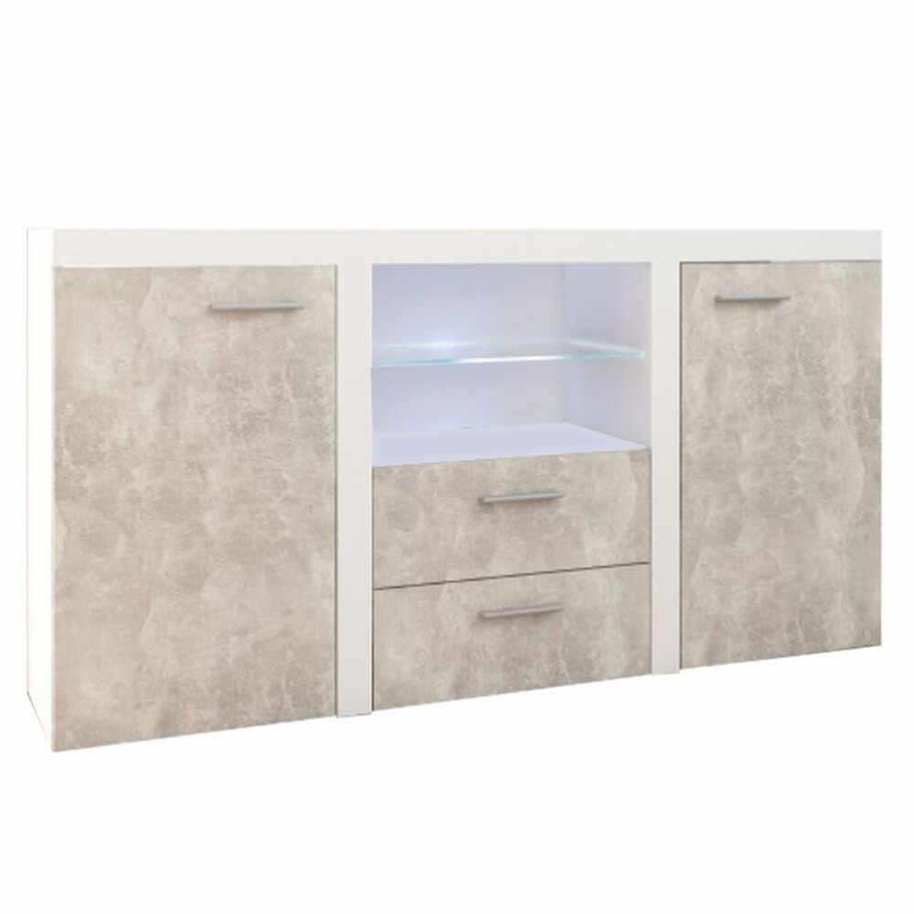 Comoda beton deschis/alb GL ROCHESTER la pret 1156.9 lei